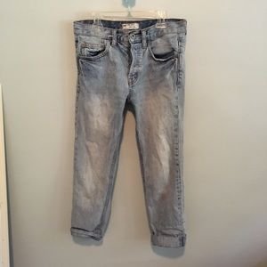 Free People Light Wash Low Rise Boyfriend Jeans
